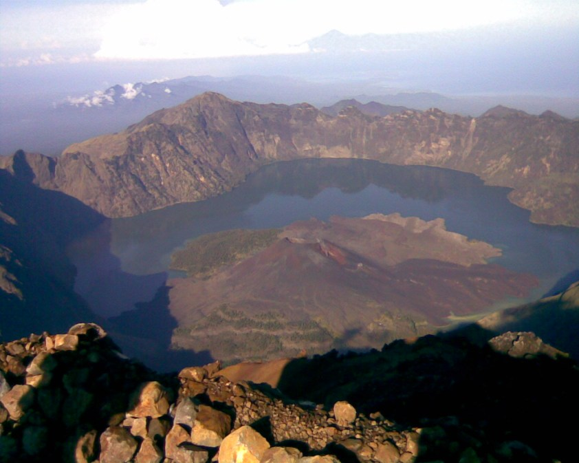 on the top of Rinjani